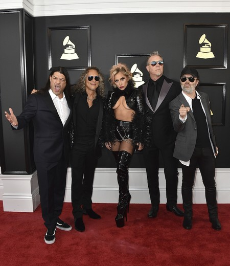Lady Gaga Metallica grammy 2017