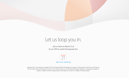 Apple transmitirá vía streaming su keynote del 21 de marzo