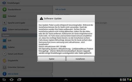 Samsung actualiza el Galaxy Note 10.1 a Android 4.1.1