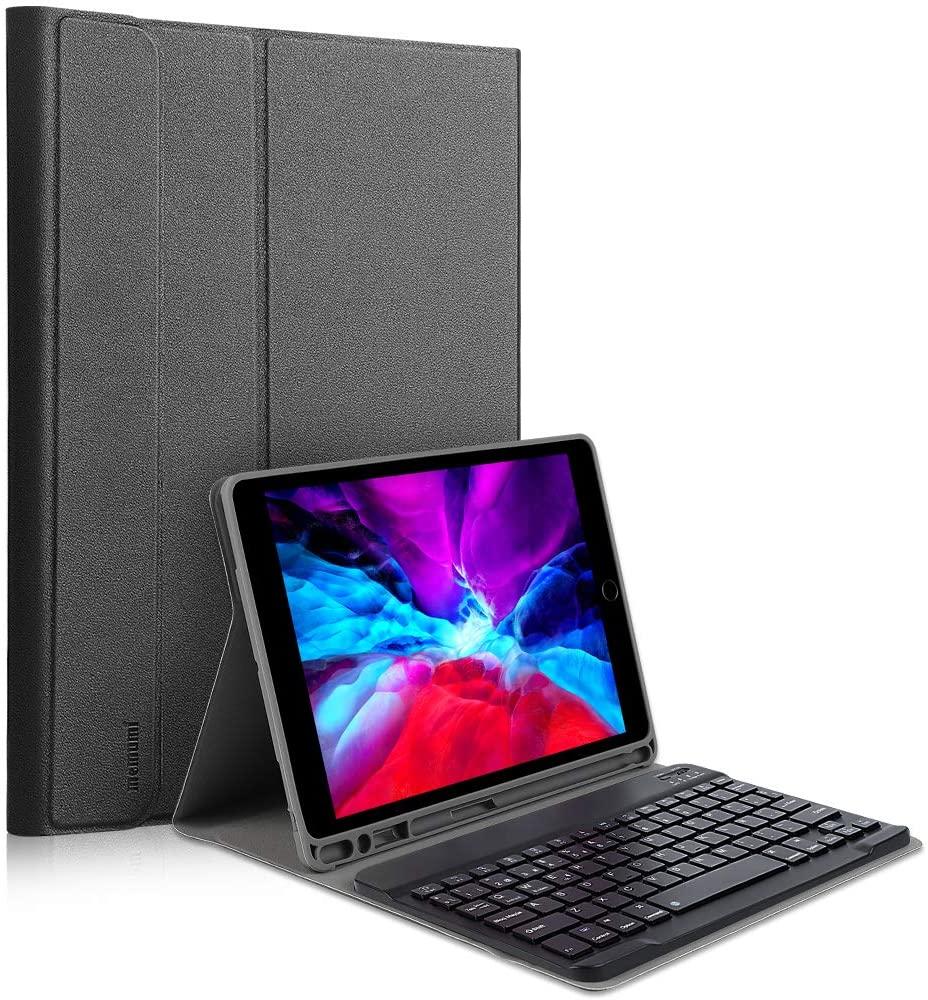Funda Memumi con teclado en español desmontable, compatible con iPad de 10.2 y 10.5 pulgadas
