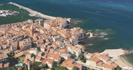 Saint-Tropez en los Mapas de Apple