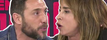 """Tenso cara a cara entre Antonio David Flores y María Patiño en 'Sálvame': """"Lo que has hecho con Rocío Carrasco, conmigo no lo vas a hacer"""""""