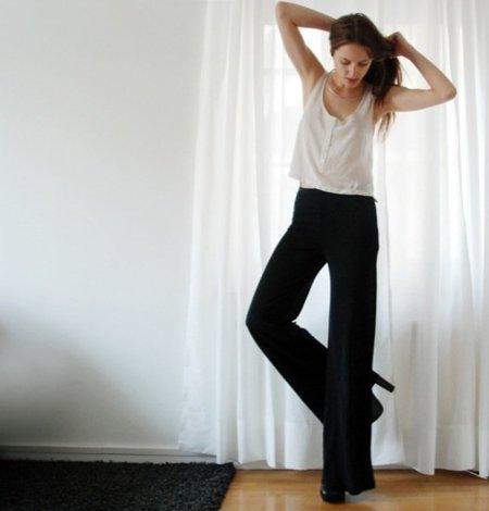 Pantalones palazzo Look de calle