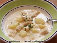 Sopa cremosa de pescado, un gazpachuelo original. Receta