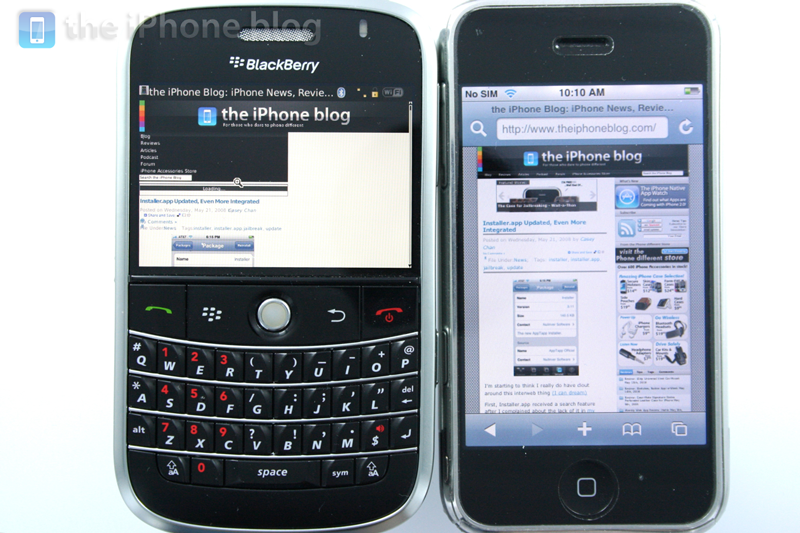 Foto de BlackBerry Bold vs iPhone (6/17)