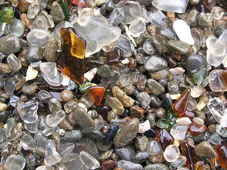 La Playa de Cristal de Mendocino (California)