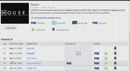 google tv guia programas servicios streaming