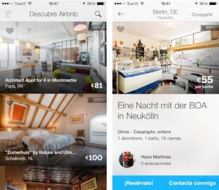 airbnb aplicación