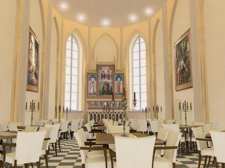 Desayuno en la capilla