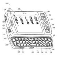 Patente de una Blackberry con pantalla táctil y teclado deslizante
