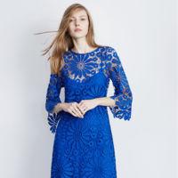 Vestido Azul Crochet Ad