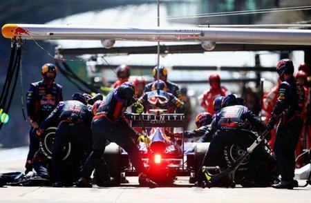Red Bull estrenará en Hungría un nuevo sistema de paradas en pits