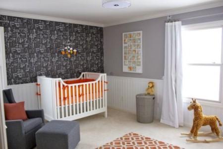 Ni de ni o ni de ni a 21 habitaciones infantiles unisex - Habitaciones de color gris ...
