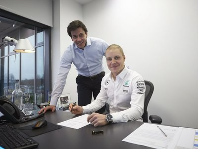 Oficial Valtteri Bottas a Mercedes, Massa de regreso a Williams y Wehrlein a Sauber