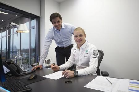 Oficial Valtteri Bottas a Mercedes, Massa de regreso a Williams y Wehrlein a Sauber