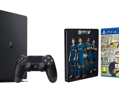 Llévate el Pack PS4 Slim 1 Tb + FIFA 17 por 344,90 euros en Amazon
