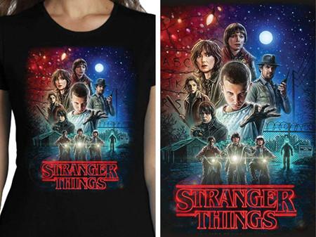 Camiseta De Mujer Stranger Things Serie Retro Tv 80