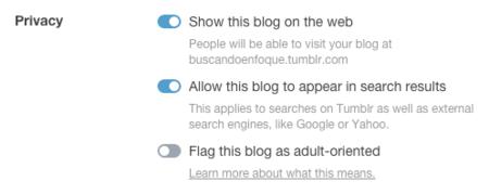 Tumblr Ajustes