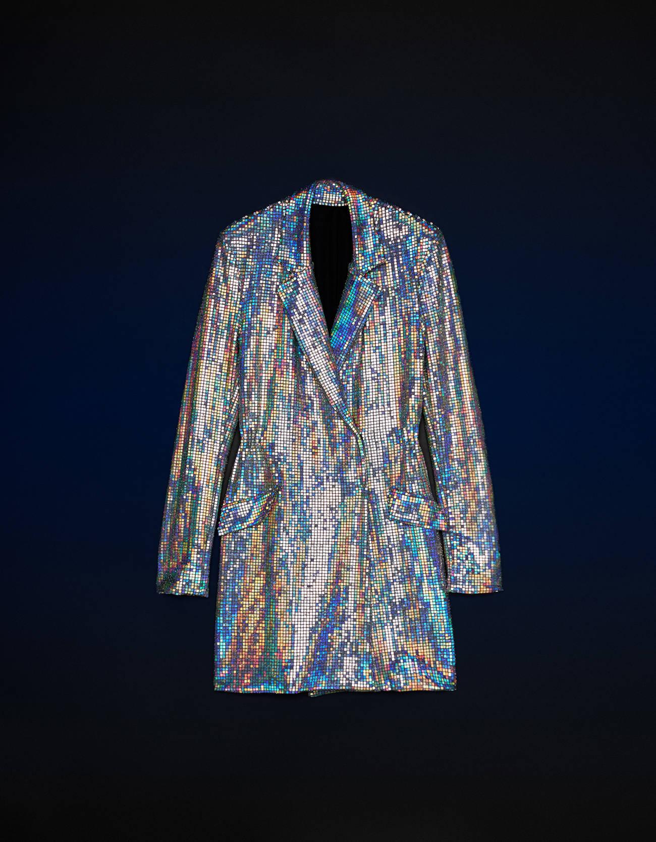Vestido blazer espejitos iridiscentes