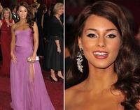 Alicia Keys y su desafortunado maquillaje en los Oscars 2009