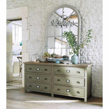 Espejo De Paulonia Beige 100x150 Maison Du Monde