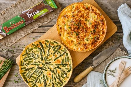 Quiche para todos los gustos: de espárragos trigueros, con jamón ibérico o para amantes del queso