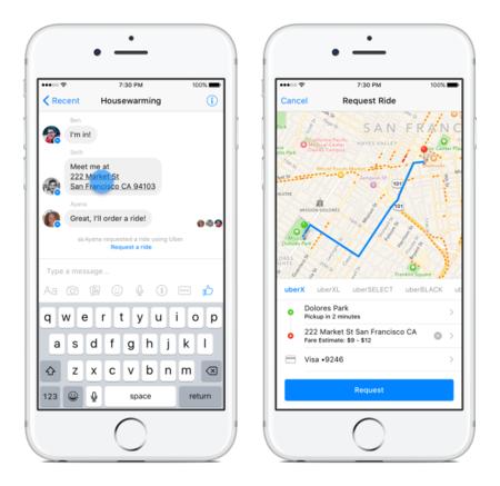 ¿Pedir un Uber desde Facebook? Esto es lo que se está cociendo en la red social