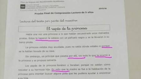 Esta prueba de lengua de la Comunidad de Madrid no es el peor examen oficial que vas a ver hoy