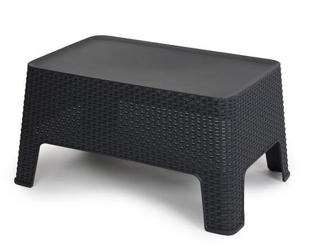 In&out Rattan Table Anthracite 902