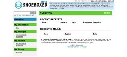 Shoeboxed, tu bandeja de entrada para las compras que realices online