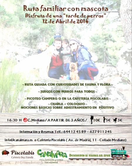 El próximo sábado podéis participar en una ruta por la Sierra de Madrid, para familias con niños y mascotas