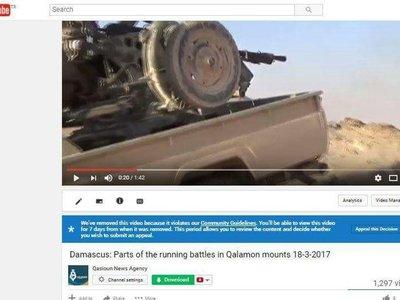YouTube inicia borrado en masa de videos extremistas relacionados con Siria