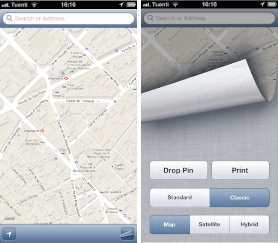 classicmap mapas iphone ios google apple