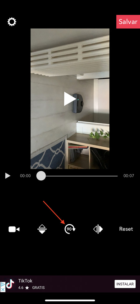 rotar video iphone iPad