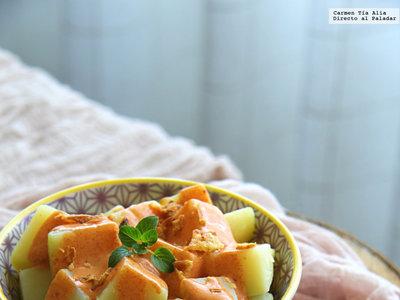 Ensalada de patata especiada. Receta low cost