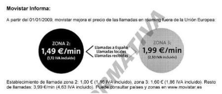 Movistar sube hasta los 1.86 euros el establecimiento de algunas llamadas en roaming