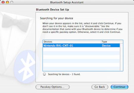 Mac OS X reconoce el mando de la Wii