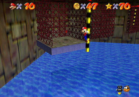 Super Mario 64: cómo conseguir la estrella Pole-Jumping for Red Coins de Dire, Dire Docks