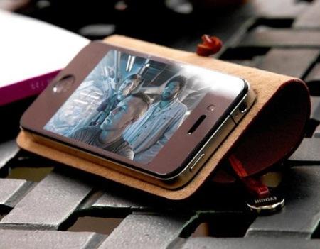 Funda para iPhone en cuero y con un formato diferente al convencional