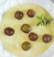 Sopa fría de melón con uvas