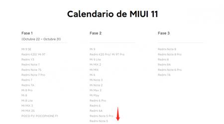 Calendario Miui 11