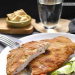 Cachopo de jamón cocido y queso azul. Receta popular asturiana