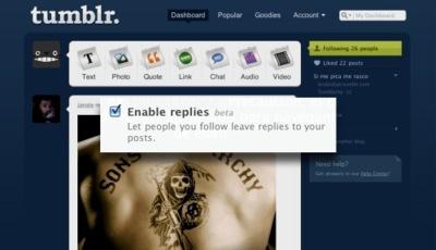Tumblr lanza su funcionalidad de respuestas