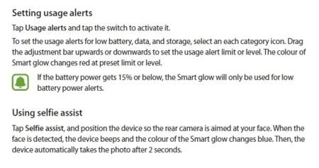 Funciones de Smart Glow
