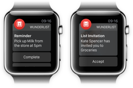 Wunderlist Notificaciones