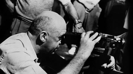 Otto Preminger dirigiendo