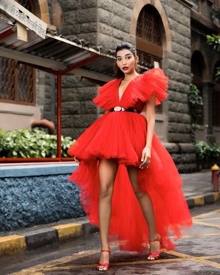 Giambattista Valli Hm Red Dress Tulle 05