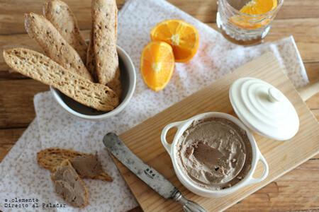 Receta de paté de pollo y naranja, para lucirte en el aperitivo o hacer un buen regalo
