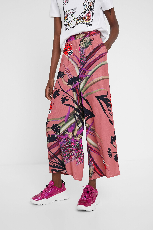Pantalón culotte tropical