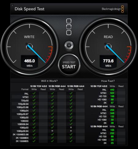 BlackMagic Disk Test